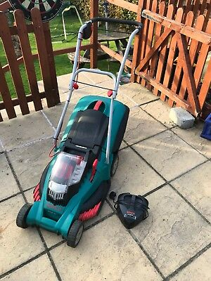 bosch rotak 43li 36v battery lawn mower picclick uk. Black Bedroom Furniture Sets. Home Design Ideas
