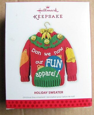 2013 Hallmark Keepsake Ornament Holiday Sweater Ugly Christmas  NEW!