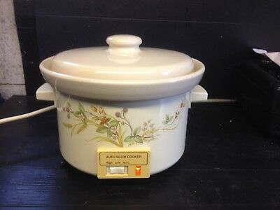 marks and spencer harvest pattern RARE Slow Cooker WORKING, vgc