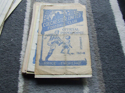 Colchester United V Wrexham 1947-8 Fa Cup 2Nd Round