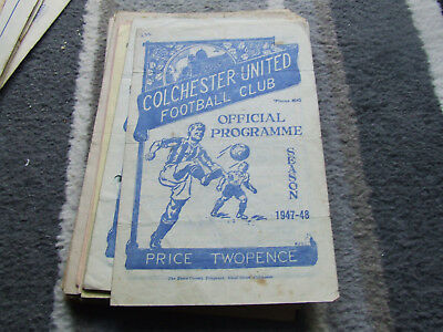 Colchester United V Banbury Spencer 1947-8 Fa Cup 1St Round