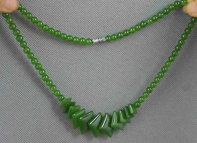 Collectable Handwork Decor Burnish Jade Carve Beauty Bead Fashion Noble Necklace
