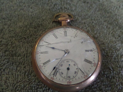 Vintage Waltham  Pocket Watch~17 Jewels P.s. Bartlett~For Parts Or Repair