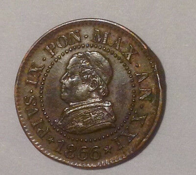 PAPAL STATES 1866-R one centesimo  ...  GREAT DETAILS!!!
