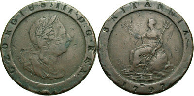 BRITISH, George III. 1797. AE Two Pence