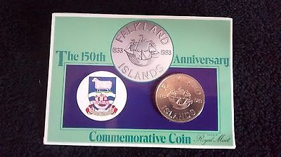 The 150th Falkland Islands Anniversary Commemorative Coin - Royal Mint