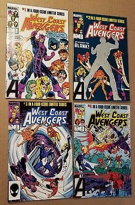 West Coast Avengers, Limited Series 1-4 (Two Copies Of Each, Marvel, 1984)