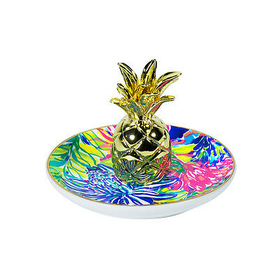 Lilly Pulitzer - Ring Holder - Traveler's Palm - Gold Pineapple!