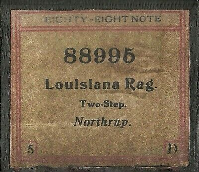 Louisiana Rag, Two-Step, Northrup, Eighty-Eight Note 88995 Piano Roll, Original
