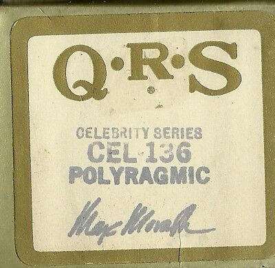 Polyragmic, played by composer Max Morath, QRS Cel-1366 Piano Roll Original