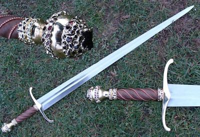 Gold Plated Sword With Gems Msw104 Battle Ready