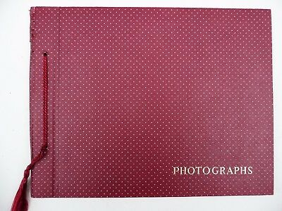 VINTAGE 1930s Unused Red Spotted Polka Dot Photo Album w/ black pages