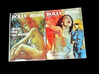 ROLLY ROSS # 5 6 Fumetti CRIME ITALIAN COMIC FINE LOT