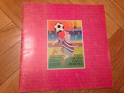 Program Xxxv Teresa Herrera Real Madrid Porto Flamengo Sporting Gijon 1980