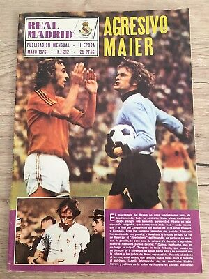 Magazine Official Real Madrid Bayern Munchen European Cup 1975 1976