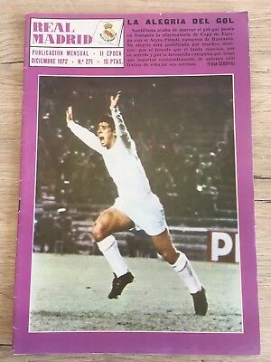 Magazine Official Real Madrid Arges Pitesti European Cup 1972 1973