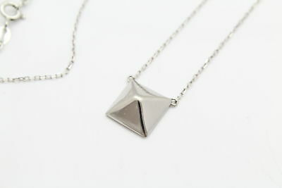 """Chateau DArgent Pyramid Pendant on 18"""" Chain in Sterling Silver"""