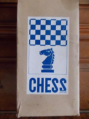 Vintage Magnetic Travel Chess Set, Made In Japan