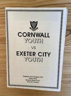 Cornwall Youth v Exeter City Youth (Friendly at Bodmin Town) 21/10/1997