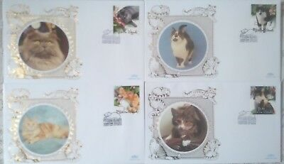 "Pitcairn Island Stamps - 4 x Covers Featuring  ""Cats"""