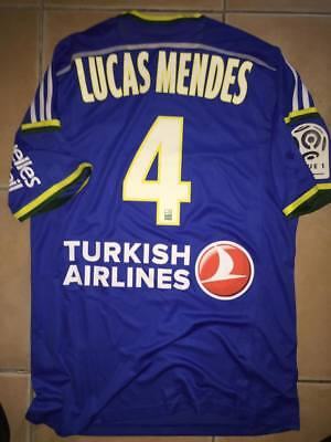 maillots porte match worn Lucas MENDES OM MARSEILLE