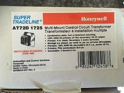 Honeywell Multi-Mount Control Circut Transformer  AT72D 1725