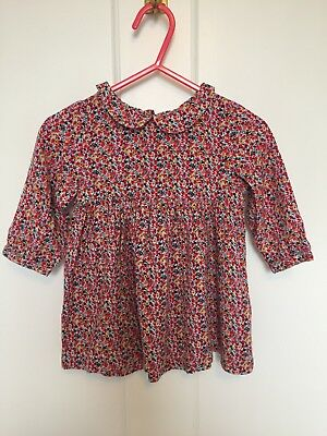 Baby Girls NEXT Floral Blouse Top Age 6-9 months