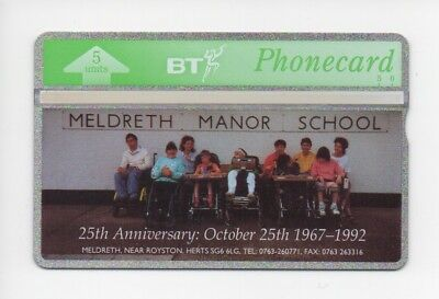 BT Phonecard BTG086, Meldreth Manor School, The Spastics Society, mint unused