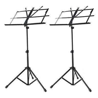 FP 2 Pack Adjustable Folding Tripod Sheet Music Stand with Bag