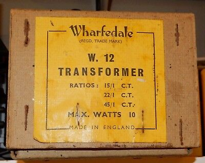 Wharfedale W12 push pull audio output transformer. 10 watts. Multi ratio. NOS