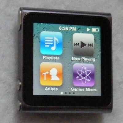 Apple iPod Nano 6th generation 8GB with bundled earphones and mains charger