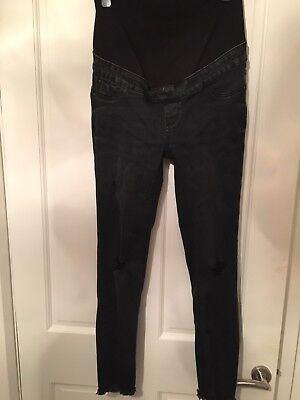 Black Ripped Skinny Maternity Jeans New look Size 8