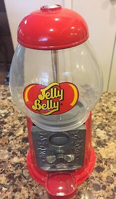 Jelly Belly Jelly Bean  Metal and Glass Globe Candy Dispenser & Coin Bank 1980's