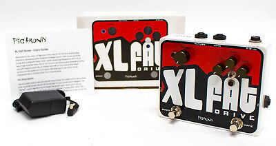 Pigtronix XL Fat Drive 100% Analog Overdrive Guitar Effect Pedal - New