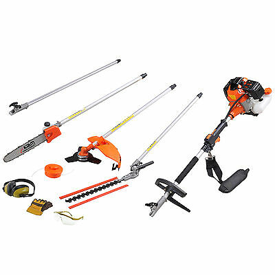 Kiam Sherwood 58cc 5in1 Petrol Strimmer Brush Cutter Hedge Trimmer Pruner Saw