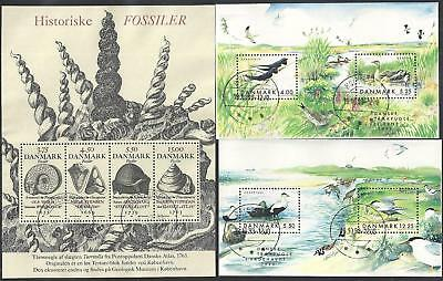 Denmark - 3 Very Fine Sheets - Postally Used