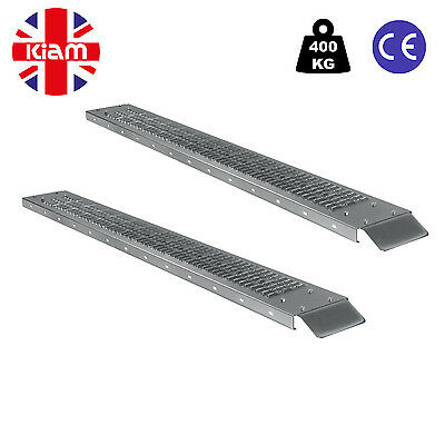 Pair 1.85M Heavy Duty Steel Loading Ramp Motorbike Wheelchair Mobility Scooter