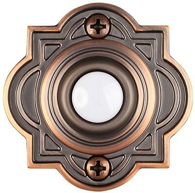 Door Bell Push Button Replacement Wired Lighted, Mediterranean Bronze Home Decor