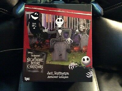 Halloween Inflatable Jack on Grave Stone Nightmare Before Christmas 3 .5 ft