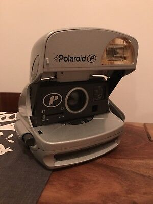 Polaroid P 600 Instant Film Camera, Silver | Fully Working