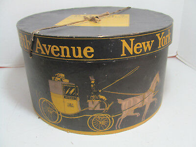 Antique Dobbs New York Fifth Ave Hat Box