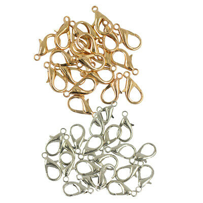 40Pcs 18mm Lobster Clasps Clips Bag Key Ring Hook Jewelry Findings Keychain
