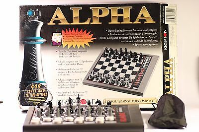 Vintage Krypton Alpha  Systema Electronic Chess/ Checkers  Chess Computer
