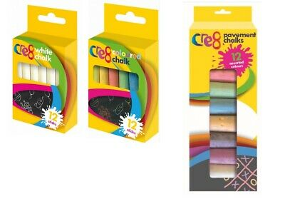 Chalk for Kids Activity Small & Giant Pavements Chalks Coloured CE safe for Kids