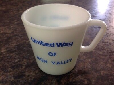 Pyrex No 1410 Mug Coffee Cup United Way Of Mon Valley Thanks To You Rare