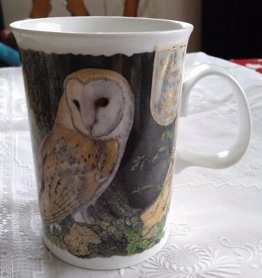 "DUNOON ""Barn Owls"" FINE BONE CHINA MUG designed by Richard Partis OWLS"