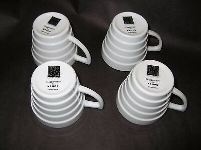 Lot 4 Cups Frank Lloyd Wrigh Collection Guggnheim  Krups 1998