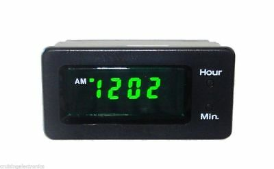 Car Clock 12 Volt Led Digital Dash Panel  Mount, 12V, 12 Hour, Lq1200L