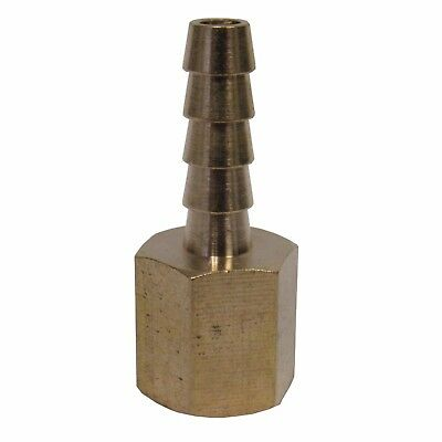 New Brass 1/4 In. Fnpt X Hose Barb Straight Fitting For 1/4 In. Id Hose Nib
