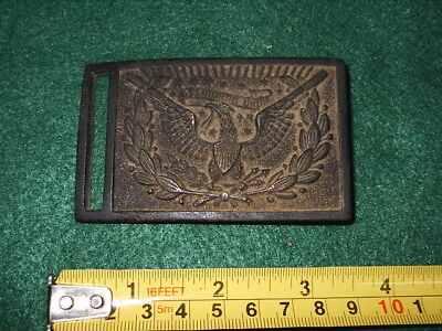 Us  Civil War Brass Buckle